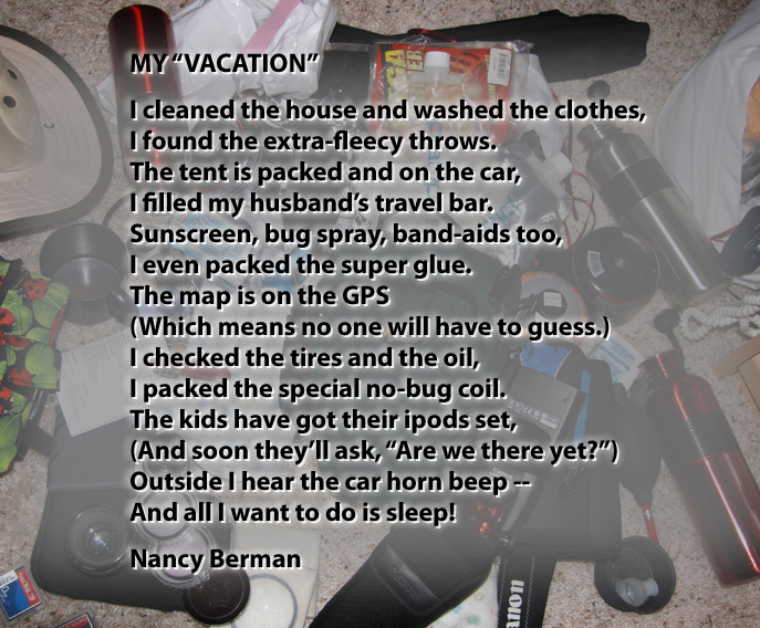 My Vacation A Poem Seattle Backpackers Magazine