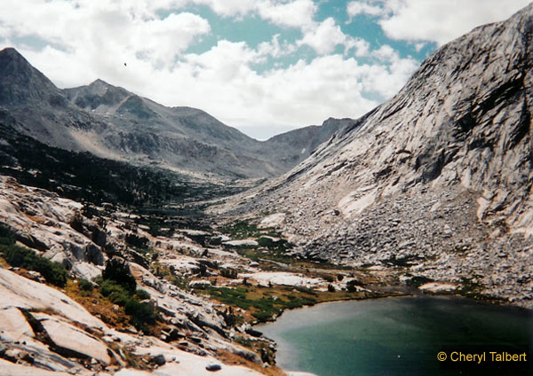 Upper Palisad Lake back to Mather Pass