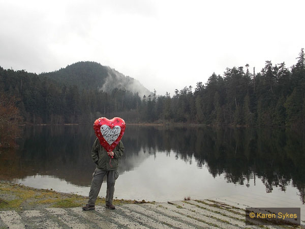 A sweetheart at Heart Lake