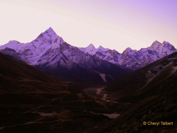 Down the valley, over the Dudh Kosi to Ama Dablam