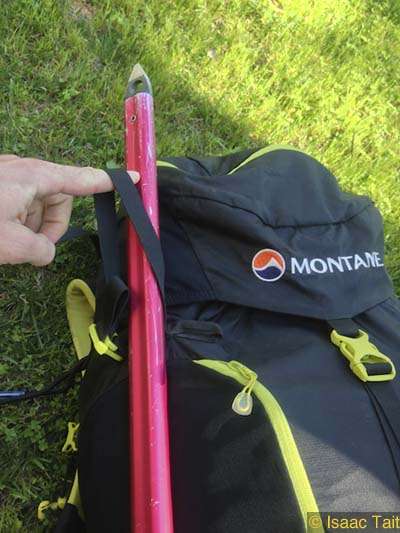 Montane Grand Tour 55 - Awkward Ice Axe carry 2