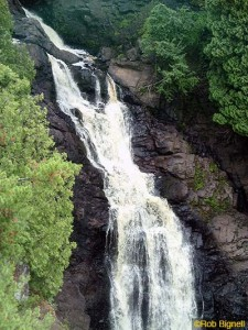 Photo 1 Big Manitou Falls reaches a height of 165 feet, making it the fourth highest waterfall east of the Rocky Mountains and as tall as Niagara. copy