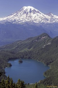 Mount Rainier and Packwood Lake from the Lily Basin Trail copy