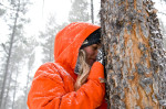 Chanelle Sladics in a Colorado Lodgepole Pine Forest
