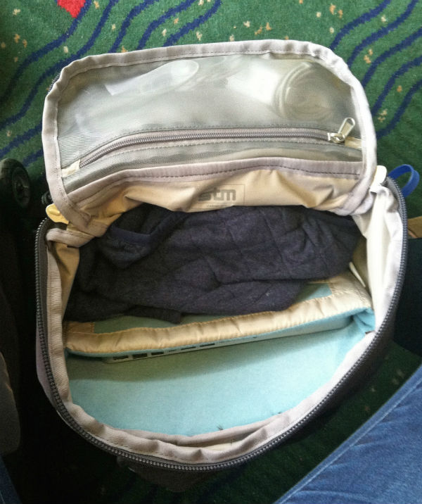 The Drifter, functioning as my carry-on at SEATAC