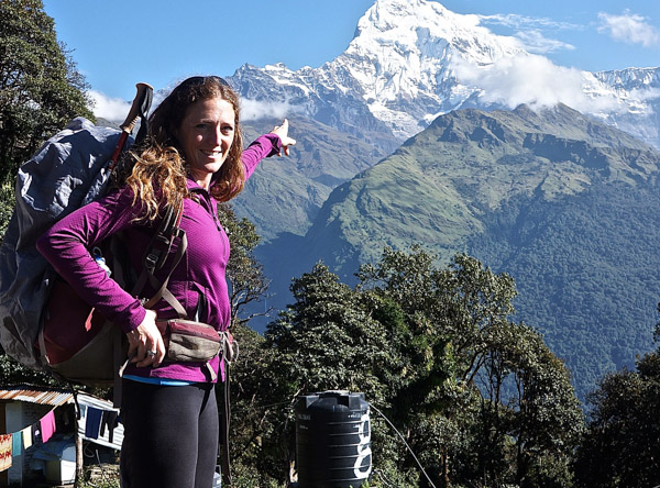 Nepal with Everest in the background