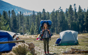 Reese Witherspoon portraying Cheryl Strayed on the Pacific Coast Trail in the movie Wild (Photo from telegraph.com)