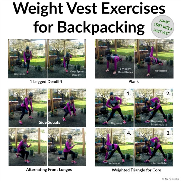 Perfect Weight Vest Exercises for Backpacking