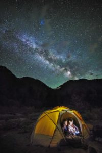Camped under the Milky Way at Baker River