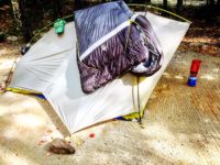 Sierra Designs Lightning 2 tent and Zissou 0 sleeping bag