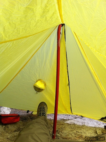 ... you can rig the flaps to close from the inside (remember this shelter has no zipper). Just make sure you bring a healthy amount of extra tent cord. & Brooks Range Ultralight Quick Tent - Seattle Backpackers Magazine