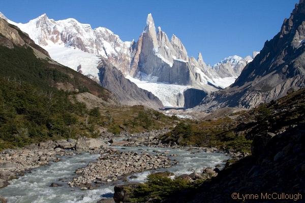 Torre-Cheryl-cerro torre from the valley of rio del torre, near our camp.  (lynne mccullough)_std