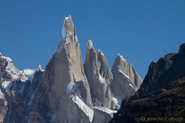 Torre-Cheryl-cerro torre, with the compressor face on its right and rime ice cap on the top.  (lynne mccullough)_std