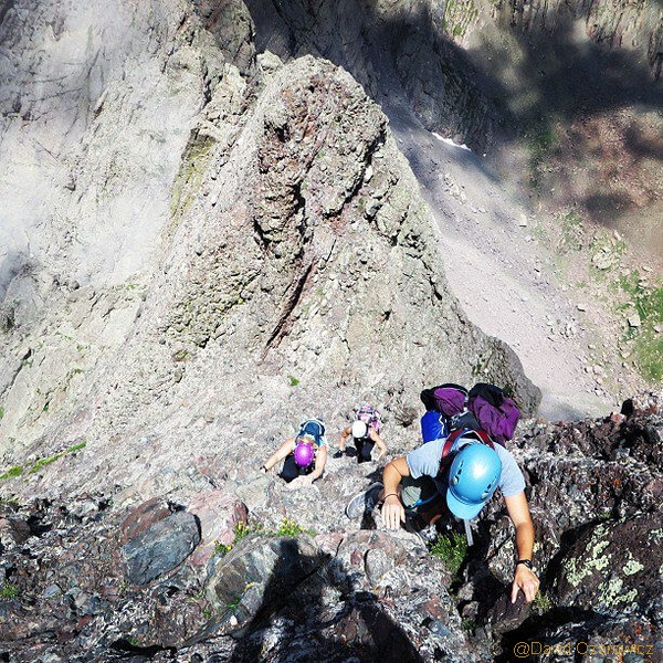 class 4 scramble to summit crestone needle