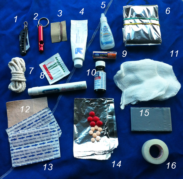 First Aid Kit for the Trails
