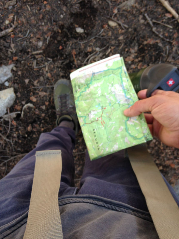 Once you've chosen a route, get your hands on a map of the area and get comfortable using it. Consider any necessary permits you may need to camp or have a fire in the area.