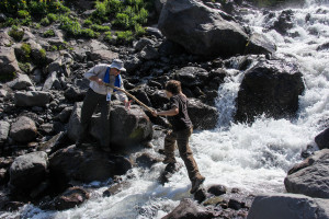 Glacial Stream Crossing