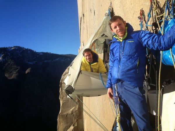 Tommy Caldwell and Kevin Jorgeson on El Cap. Source: ABC News