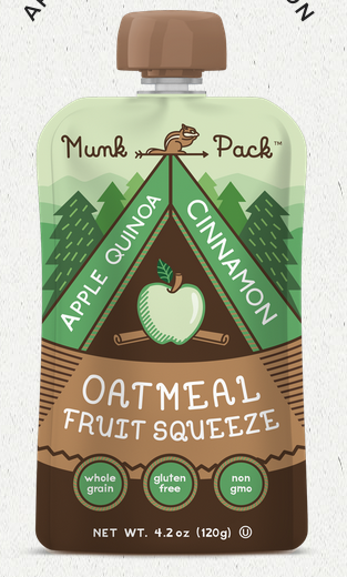 Munk Pack Oatmeal Fruit Squeezes