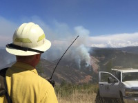 Wildfires treaten National Forests in central and eastern Washington.