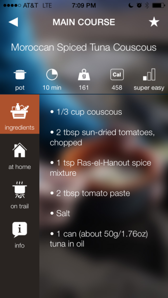 Trail Chef iPhone App