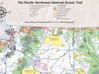 The Pacific Northwest National Scenic Trail spans three National Parks, seven National Forests, and three mountain ranges on its way from the Continental Divide to the Pacific Ocean. Source: pnt.org