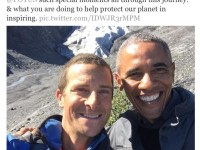 A selfie taken with an American President is called a POTUS-elfie.  Source: ghananation.com