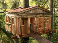 Rooms rent fast so plan your adventure well in advance.  Source: treehousepoint.com