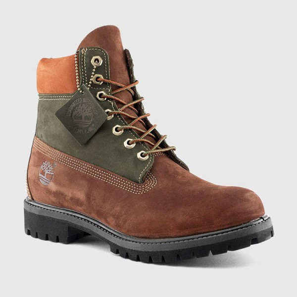 timberland 6 inch premium brown green