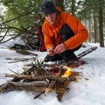 Building Survival Fire in Bad Weather