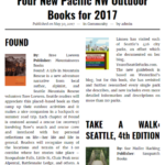 Four New Pacific NW Outdoor Books for 2017